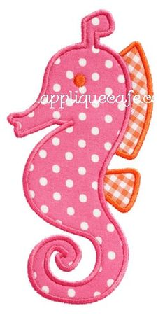 592 Seahorse 2 Machine Embroidery Applique von AppliqueCafeDesigns