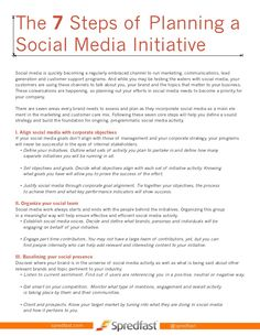 7-steps-to-planning-and-executing-a-social-media-initiative by Spredfast via Slideshare