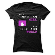 JUST A GIRL IN A COLORADO WORLD #teeshirt #Tshirt