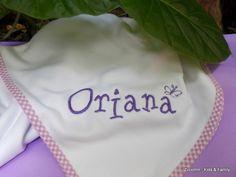 Manta recibidora de algodón para recién nacido en  https://www.facebook.com/Zzoomm.regalospersonalizados