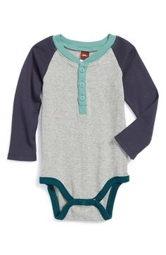 Free shipping and returns on Tea Collection 'Ludwig' Henley Bodysuit (Baby Boys) at Nordstrom.com. This comfy cotton bodysuit sports long, contrast raglan sleeves and a henley placket for nestling baby in classic style.