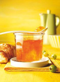 Stachelbeergelee mit Pfirsichen -  Ein fruchtiges Gelee für den Sommer