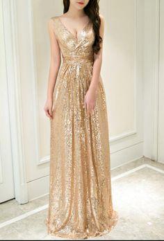 Gold Elegant Prom Dress,Long Prom Dresses,Prom Dresses,Evening Dress, Evening Dresses,Prom Gowns,Wedding Dress,Formal Women Dress