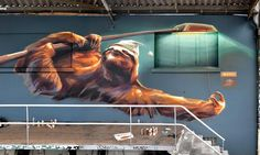Playful New Murals and Paintings by 'Wes21′ Fuse Technology, Humor, and the Natural World