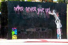Graffiti on La Brea - Los Angeles - CA - USA   Mr Brainwash - more streetart? Check www.Streetart.nl