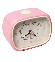 Pink Retro Alarm Clock. so stinkin' cute!