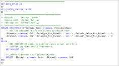How to write- create Stored Procedure in SQL Server