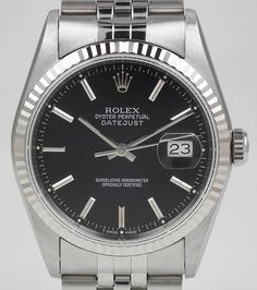 Rolex Oyster Perpetual DateJust With Black Dial & Jubilee Bracelet