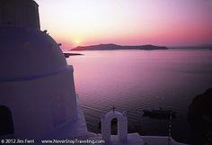 Santorini sunset, colours, mauve by StarMeKitten