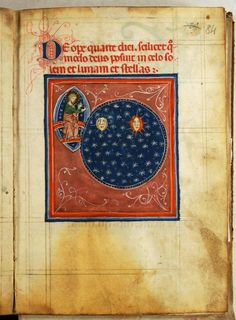 Treatise of the World's Creation - World Digital Library Medieval Books, Medieval Life, Medieval Manuscript, Medieval Art, Illuminated Manuscript, Creation Of Earth, Duccio Di Buoninsegna, Statues, Historical Art
