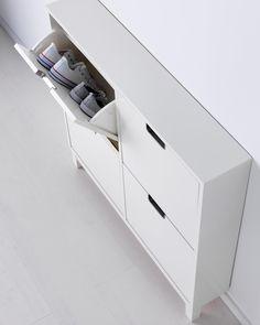 Schuhschrank ikea ställ  Narrow depth (17cm) IKEA STÄLL shoe cabinet with 4 compartments ...