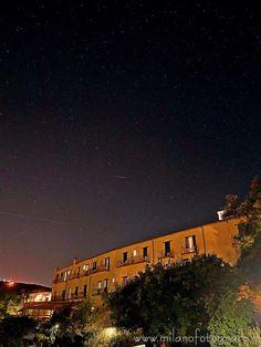 Sirolo (Ancona, Italy) - The starry sky behind the Hotel Monteconero