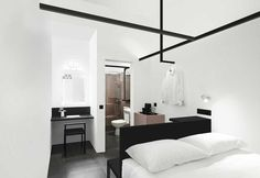Mono hotel a Singapore in stile minimal e arredamento in bianco e nero - Elle Decor Italia