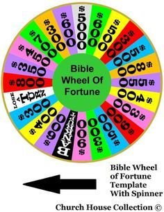 Bible Wheel Of Fortune Template Printable by