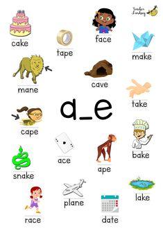 Magic e words (long vowel a) by Teacher Lindsey