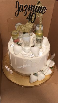 Strawberry White Chocolate Drip Ciroc Cake Alcohol Birthday Cake, 25th Birthday Cakes, Alcohol Cake, Adult Birthday Cakes, Birthday Cakes For Women, Alcohol Gifts, Birthday Wishes, Chocolate Covered Treats, Chocolate Drip