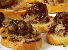 Bruschetta with BBQ Pulled Pork