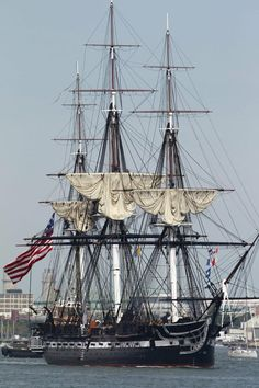 USS Constitution ship - Boston, Massachusetts - an active ship in the US Navy