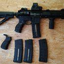 """PAR MK3 SPARTAN 10.5"""": Puška AR-15 PAR MK3 SPARTAN 10.5"""", ráže .223/5.56 Rem KEYMODE Kolimátor EOTech XPS2-0, pažba Magpul CTR, pistolová rukojeť COMMAND ARMS ACC s ( 3x výměnné vložky), pistolová rukojeť FabDefense AG-43, poutko na popruh Magpul RSA, přední rukojeť Magpul RVG, set mířidel FabDefense FBS+RBS, 3x zásobník FabDefense Ultimag pro zbraně AR15/M4, .223 Rem, 30 ran, 1 x zásobník dodávaný s puškou IK – 510 Bulhar, poutko na řemen Magpul, ASAP, oboustranná natahovací páka V-AR…"""