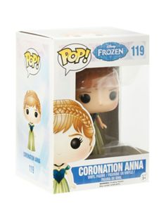 Coronation Anna is given a fun, and funky, stylized look as an adorable collectible vinyl figure! Funko Figures, Pop Figures, Vinyl Figures, Frozen Pop, Disney Frozen, Kingdom Hearts Shirt, Pop Bobble Heads, Nightmare Before Christmas Toys, Alice In Wonderland Dress