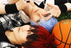 Tetsuya Kuroko and Taiga Kagami Cosplay (Kuroku's Basketball)