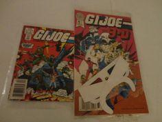 Vintage 2 G.I. Joe Comics Magazine Vol 1 No 1 1986 & G.I. Joe in 3-D w/ glasses. find me at www.dandeepop.com