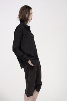 Long Asym Jacket in Black