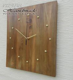 Handmade Wall Clock Wooden Clock Handmade by CharliePoopFactory