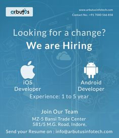 IOS Developer And Android Developer Hiring Poster, Android Developer, Join Our Team, We Are Hiring, Happy Independence Day, Resume, Vector Art, Google Search, Cv Design
