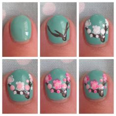 Nail art step by step - who's got this much time? ECitynails.com Jamberry Nail Wraps