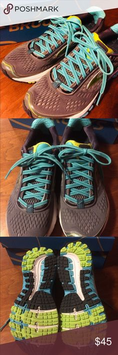 Brooks Running Shoes Sz 7.5. Brooks Running Shoes. Only worn step for aerobics, treadmill & floor aerobics for about 6 months. Brooks Shoes Athletic Shoes