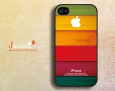 iphone 4 case iphone case iphone 4s case iphone 4 cover black phone case  colorized wood grain unique Iphone case. $13.99, via Etsy.