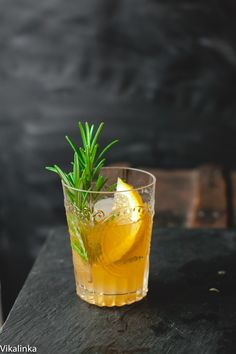 Cognac Sour- a perfect balance of sweet and sour infused with woodsy scent of fresh rosemary.