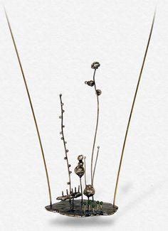 Liisa Hashimoto, leaf garden necklace.