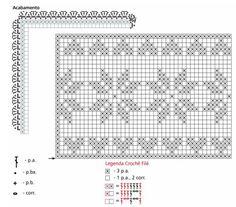 Filet crochet star & hearts insertion ~~ Украшение подушек кружевом крючком. Идеи и схемы (1) (700x614, 379Kb)