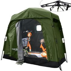Quictent Heavy Duty Pop Up Bike Tent Storage Shed Quick Setup Garage Outdoor