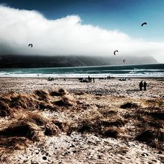 Fog, mountains, beach – Keel beach, Ireland