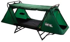 """Tent Cot by Kamp Rite - includes no-see-um fly mesh. Great for hunting camps! Will comfortably sleep an average sized adult. Fully waterproof, it easily converts into a lounge or a chair and it packs down into a compact 32"""" x 30"""" x 6"""" carry bag."""