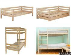 Деревянные кровати одноярусные и двухъярусные   Томск объявление №2060
