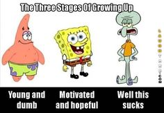 The three stages of growing up
