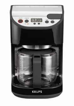 KRUPS KM6118 Precision Programmable Coffee Maker with Aroma Selection, 12-Cup, Black