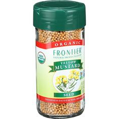 Frontier Natural Products Mustard Seed, Og, Yel, Whole, 3.05-Ounce