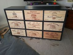 Vin Palette, Crate Furniture, Wooden Boxes, Crates, Buffet, Sweet Home, Woodworking, Diy, Wine Cellars