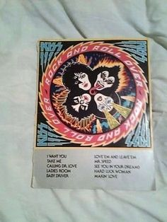 KISS Rock n Roll Over Song book - damaged spine