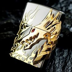 Japanese Black Ice Tribal Dragon Flame Zippo Lighter