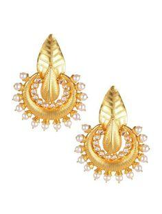 Pearl ChandBali - Buy Online Designer Earrings by Sangeeta Boochra at SilverCentrre.com - Product Code: SCW 94