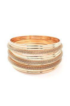 Mesh Arron Bracelet in Gold
