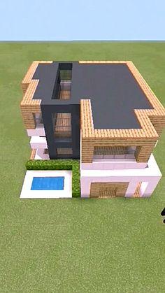 Minecraft Mansion, Easy Minecraft Houses, Minecraft House Tutorials, Minecraft Room, Minecraft Plans, Minecraft House Designs, Minecraft Decorations, Amazing Minecraft, Minecraft Tutorial