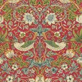 Originally a fabric c1883, this enduring classic with its symmetry and intricate detail of both strawberries and thrushes, is Morris at its best. Shown in the warm red and green colourway. Please request sample for true colour match. Shades Of Green, Red Green, True Colors, Colours, Green Wallpaper, Brand Collection, Reno, Designer Wallpaper, Slate