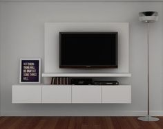 SISTEMA MURAL 14 / 2.00 mts. Tv Wall Design, Tv Unit Design, House Design, Casa Santa Rita, Tv Wall Cabinets, Modern Tv Units, Muebles Living, Tv Furniture, Tv In Bedroom